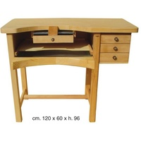 Jewellers Bench Wood Top 3Draw