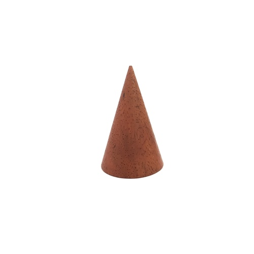 Ring Cone Wood Red Brown Small
